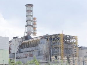 Chernobyl Nuclear Power Plant, washed out image