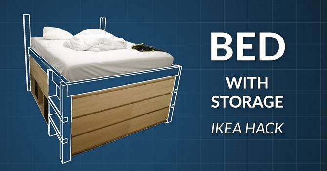 DIY Storage Bed Woodworking Project Plans