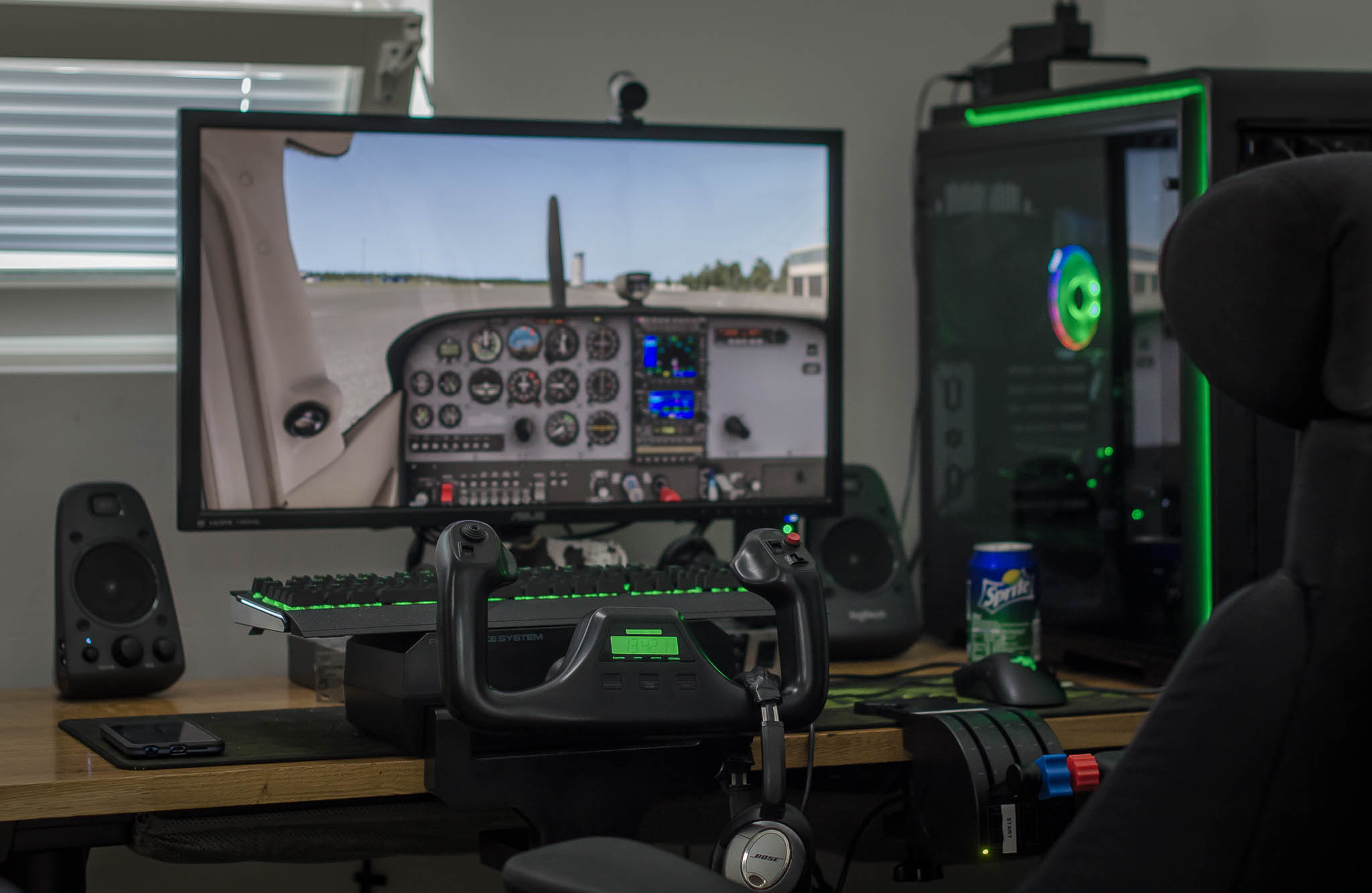 x-plane 11 home flight simulator saitek yoke system