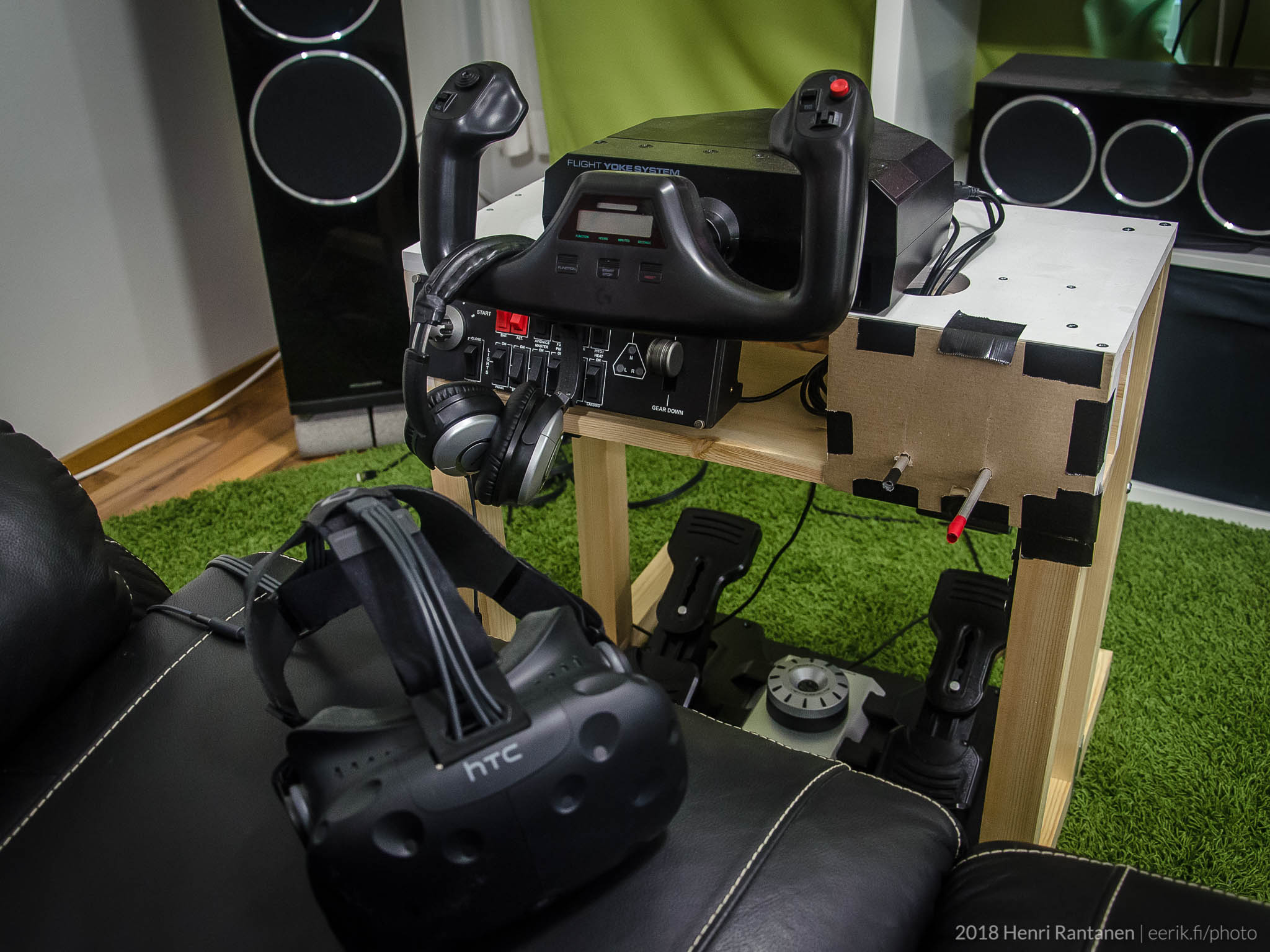 Home made saitek controls htc vive X-plane VR Flight Simulator