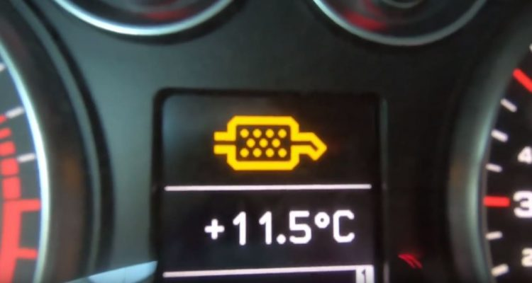 Audi A3 DPF warning light